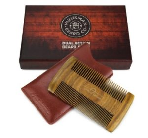 Dual Action Beard Comb & Protective Sleeve - Perfect for Balms and Oils