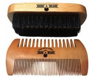 GrowABeard-Beard Brush and Comb Set for Men