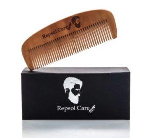 Repsol Care Handmade Boar Bristle Wooden Hair Brush and Comb Kit for Men
