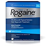 Men's Rogaine Extra Strength 5% Minoxidil Topical Solution for Hair Loss and Hair Regrowth, Topical Treatment for Thinning Hair, 3-Month Supply