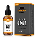 Beard Oil for Men-All Natural Unscented Beard Growth Oil for Mustache & Goatee, Leave-in Conditioner Softener Facial Hair Care Product...