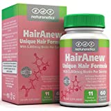 HairAnew (Unique Hair Growth Vitamins with Biotin) - Tested - for Hair, Skin & Nails - Women & Men - Addresses Vitamin Deficiencies That Could Be The Cause of Hair Loss/Lack of Regrowth (1 Bottle)