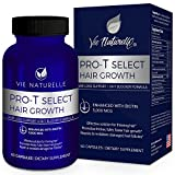 Hair Growth Vitamins with Biotin 5000mcg - DHT Blocker & Saw Palmetto Hair Loss Supplements for Women and Men - Hair Skin and Nails Vitamins - 60 Vegetarian Pills Capsules