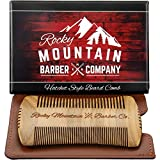 Beard Comb - Sandalwood Natural Hatchet Style for Hair - Anti-Static & No Snag, Handmade Wide & Fine Tooth Contour Brush Best for Beard...