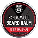 BEARD BALM SANDALWOOD by Rogue Beard Company, Leave In Conditioner with Natural Oils for Mustache Grooming and Beard Growing for Men 2...