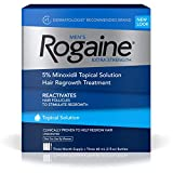 Men's Rogaine Extra Strength 5% Minoxidil Topical Solution for Hair Loss and Hair Regrowth, Topical Treatment for Thinning Hair,...