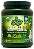 USDA Organic Vegan Protein Powder - Great Tasting Vanilla Flavor W/ 24g of Protein -100% Organic Plant Based Protein Blend of Pea,...