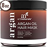 ArtNaturals Argan Oil Hair Mask - (8 Oz/226g) - Deep Conditioner - 100% Organic Jojoba Oil, Aloe Vera & Keratin - Repair Dry, Damaged...