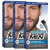 Just For Men Mustache & Beard Brush-In Color Gel, Medium-Dark Brown (Pack of 3, Packaging May Vary)