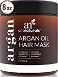 ArtNaturals Argan Hair Mask Conditioner - (8 Oz/226g) - Deep Conditioning Treatment - Organic Jojoba Oil, Aloe Vera & Keratin - Repair...