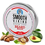 Smooth Viking Beard Balm For Men - Natural Leave-In Beard Softener Conditioner With Essential Oil & Bees Wax - Strong Hold Styling Care...