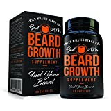Beard Growth Vitamins for Men – Naturally Powerful, Full, Thick, Masculine Facial Hair Growth Vitamins for Men by Wild Willies -...