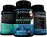 Epic Beard Growth Formula-by ProActive Nutrients. All Natural Thicker and Fuller Beard & Hair Grow Support for Men with 5000 mcg of...