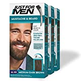 Just For Men Mustache & Beard, Beard Coloring for Gray Hair with Brush Included for Easy Application, With Biotin Aloe and Coconut Oil...