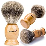 Perfecto 100% Original Pure Badger Shaving Brush. Engineered for The Best Shave of Your Life.for All Methods,Safety Razor,Double Edge...
