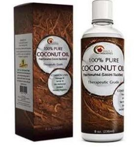 Maple Holistics 100% Pure Coconut Oil, Fractionated Therapeutic Grade