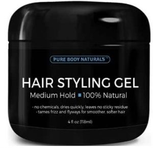 hair styling gel for men best hair gel for in 2017 8832 | Pure Body Naturals Medium Hold Hair Styling Gel for Men 300x290