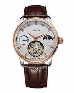 Jiusko Limited Edition Mens 27 Jewel Tourbillon 18K Rose Gold