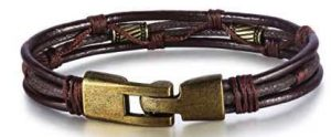 Jstyle Mens Vintage Leather Wrist Band Brown Rope Bracelet