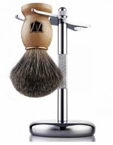 Miusco Badger Hair Shaving Wooden Brush