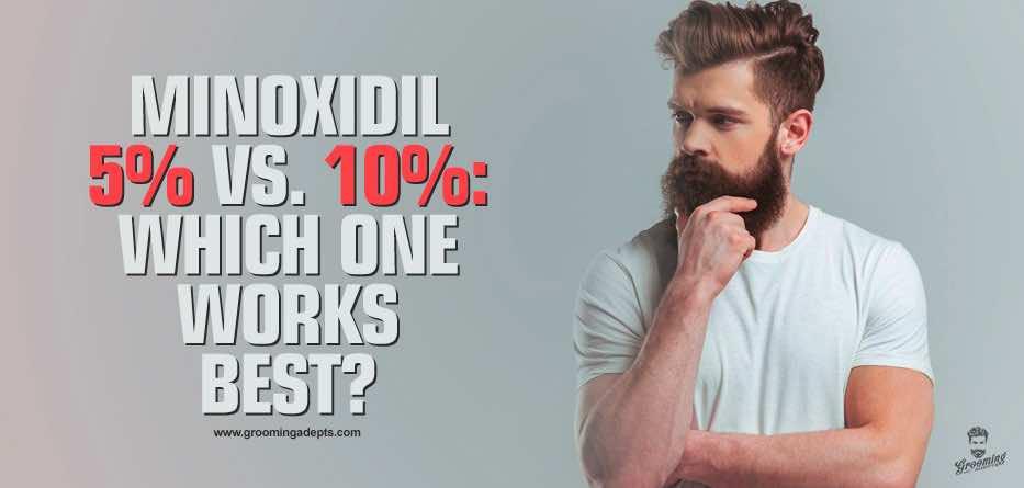 minoxidil 5% vs 10%